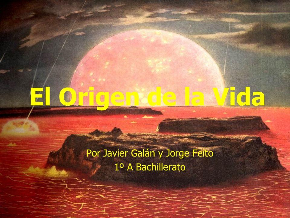 El Origen de la Vida Por Javier Galán y Jorge Feito 1º A Bachillerato