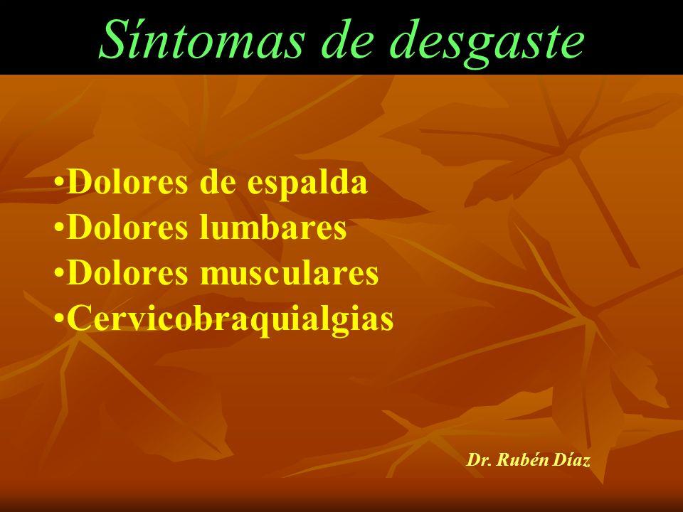 Síntomas del SNA Dolores de pecho Sudoración Sequedad de boca Palpitaciones Sensación de falta de aire Hipertensión arterial Dr. Rubén Díaz