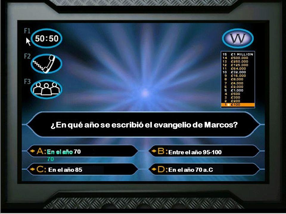 ¿Cuáles son los evangelios sinópticos? Mateo, Lucas y Juan Juan, Marcos y Lucas Mateo, Marcos y Juan Marcos, Lucas y Mateo