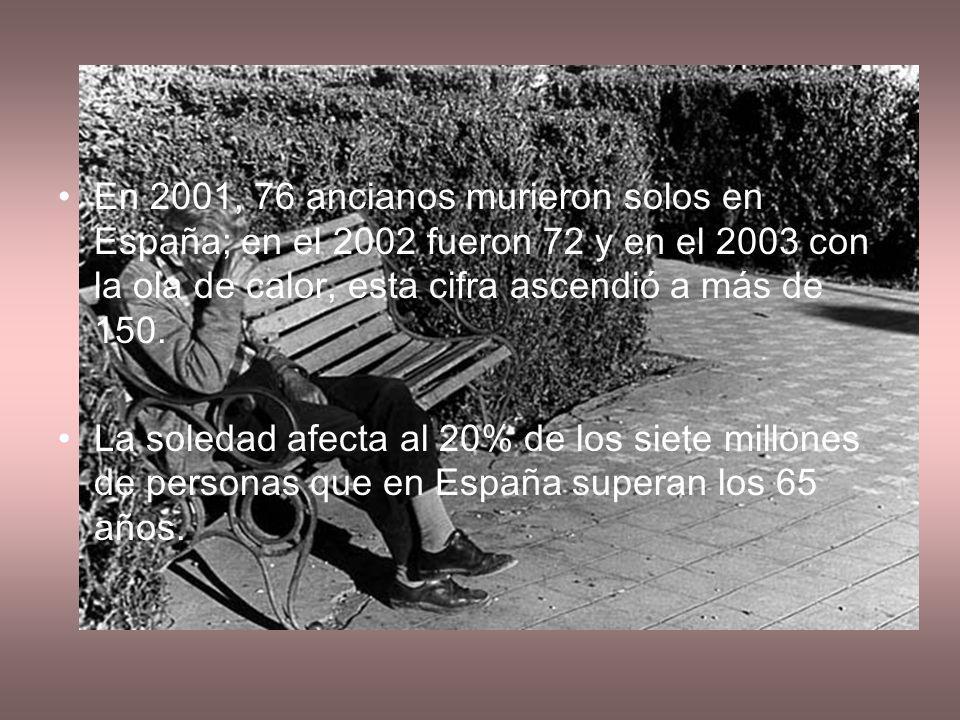 En Madrid en el 2003 murieron 115 ancianos en completa soledad.
