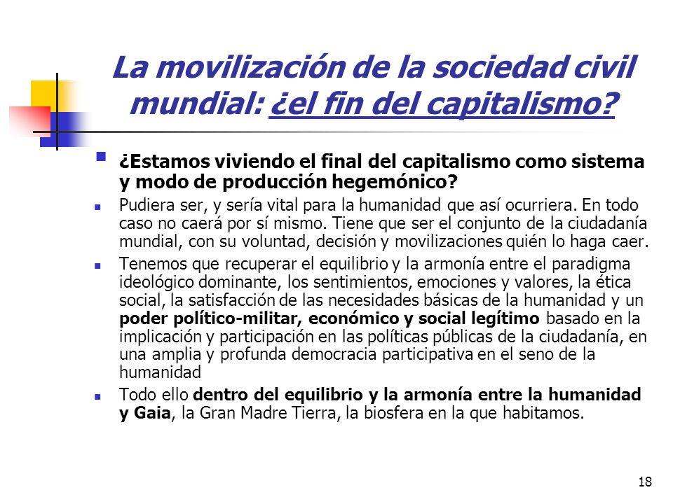 18 La movilización de la sociedad civil mundial: ¿el fin del capitalismo.