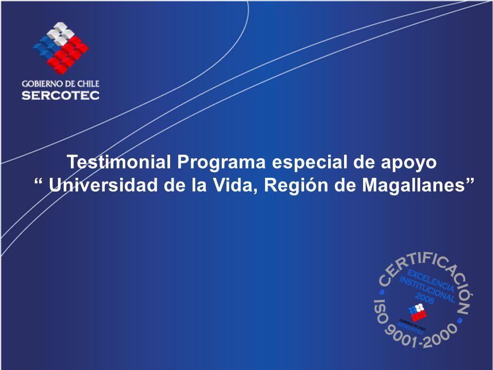 Testimonial Programa especial de apoyo Universidad de la Vida, Región de Magallanes