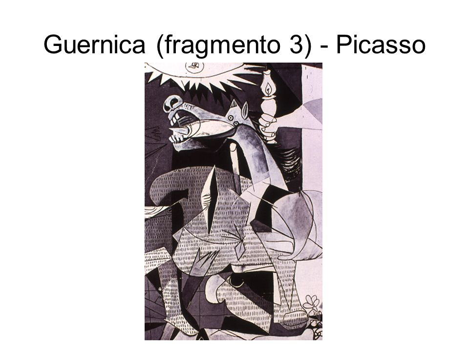 Guernica (fragmento 3) - Picasso