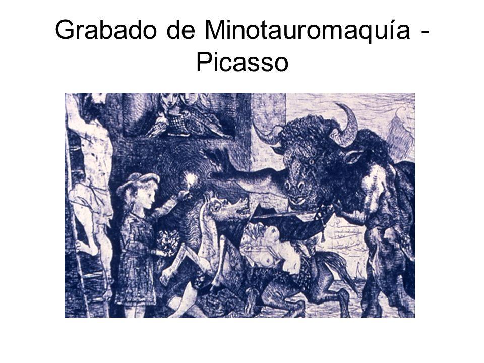 Grabado de Minotauromaquía - Picasso