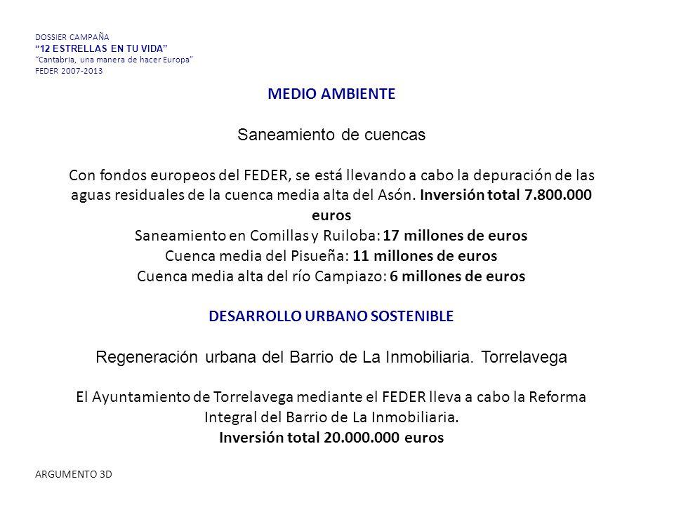 MEDIO AMBIENTE Saneamiento de cuencas Con fondos europeos del FEDER, se está llevando a cabo la depuración de las aguas residuales de la cuenca media alta del Asón.