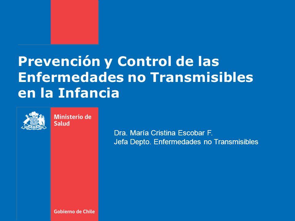 Gobierno de Chile / Ministerio de Salud Recomendaciones Continuar y fortalecer las políticas de prevención de los factores de riesgo conductuales y biológicos, que son FdeR establecidos de enfermedad coronaria, AVE y diabetes.