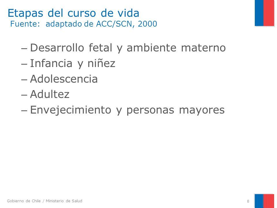 Gobierno de Chile / Ministerio de Salud Riesgo de enfermedad y factores de riesgo protectores en la infancia Lactancia materna Aunque la evidencia no es concluyente, confiere un menor riesgo de presión arterial elevada, dislipidemia y obesidad.
