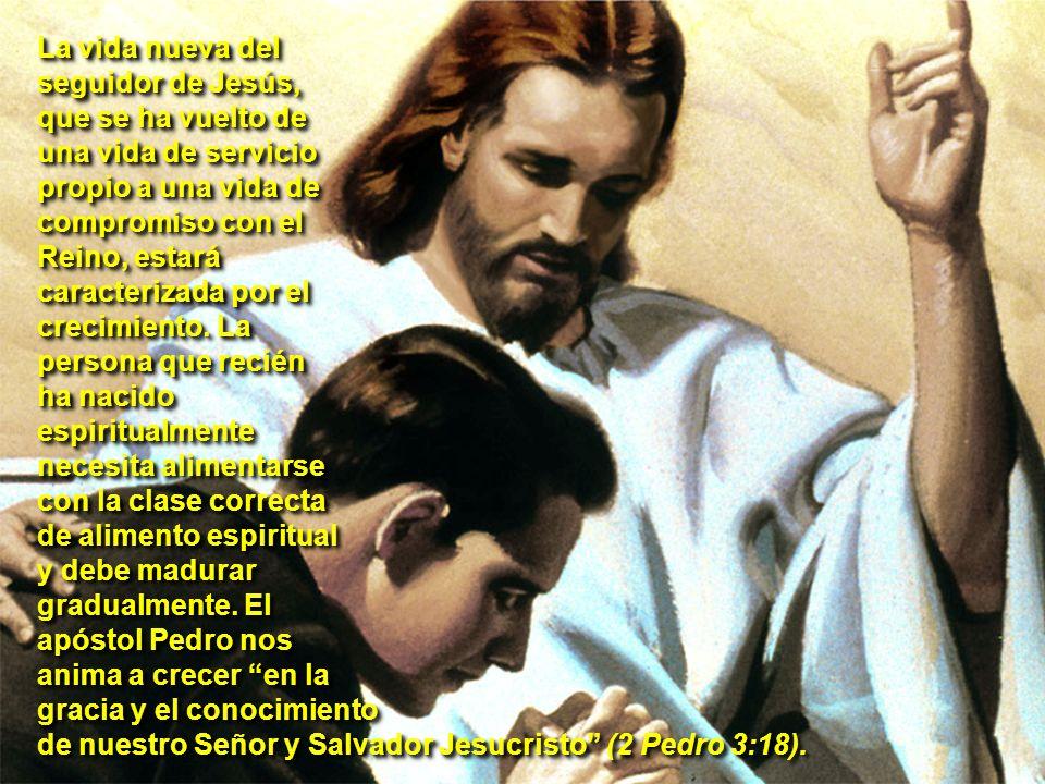 La vida nueva del seguidor de Jesús, que se ha vuelto de una vida de servicio propio a una vida de compromiso con el Reino, estará caracterizada por e