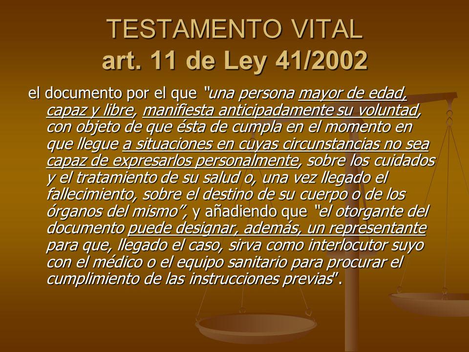 TESTAMENTO VITAL art.