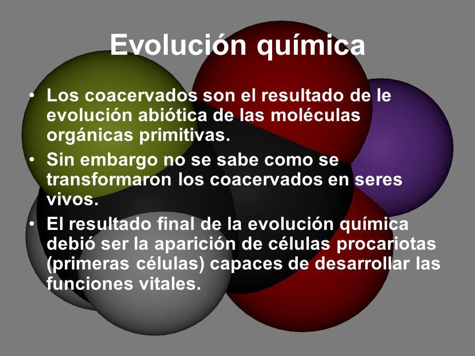 Evolucion Quimica y Celular Evolución Química Los