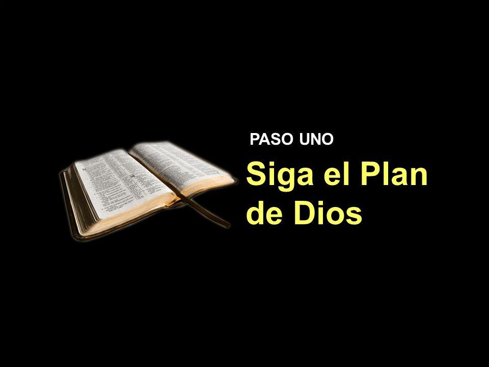 Siga el Plan de Dios Siga el Plan de Dios PASO UNO