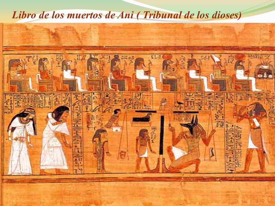 Libro de los muertos de Ani ( Tribunal de los dioses)