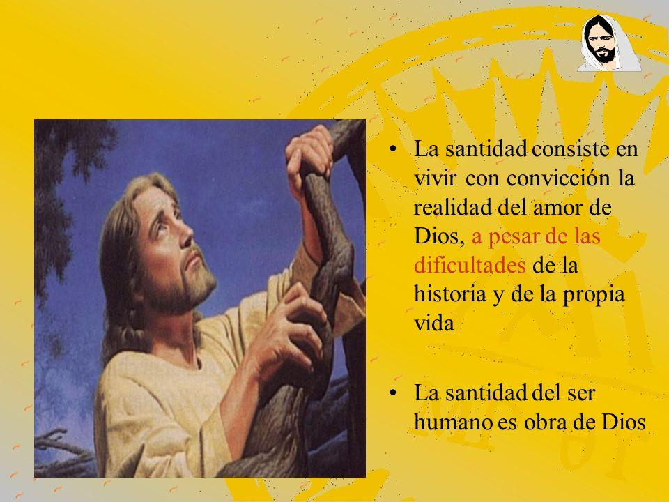 La santidad consiste en vivir con convicción la realidad del amor de Dios, a pesar de las dificultades de la historia y de la propia vida La santidad