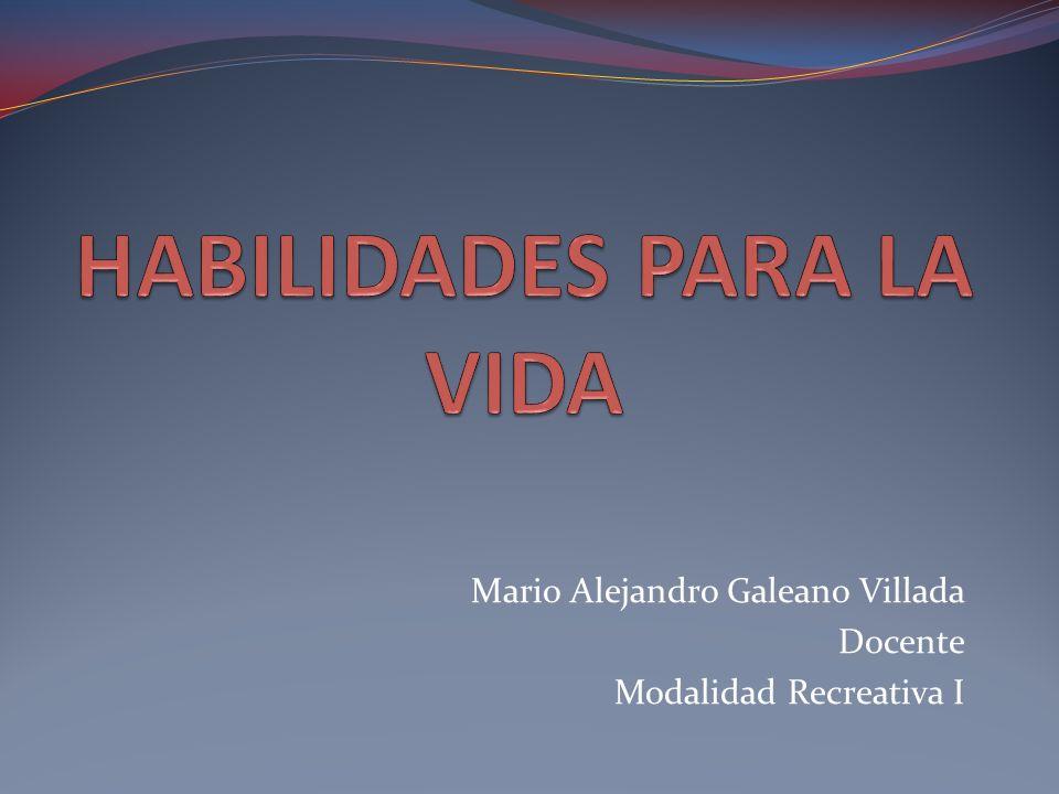 Mario Alejandro Galeano Villada Docente Modalidad Recreativa I