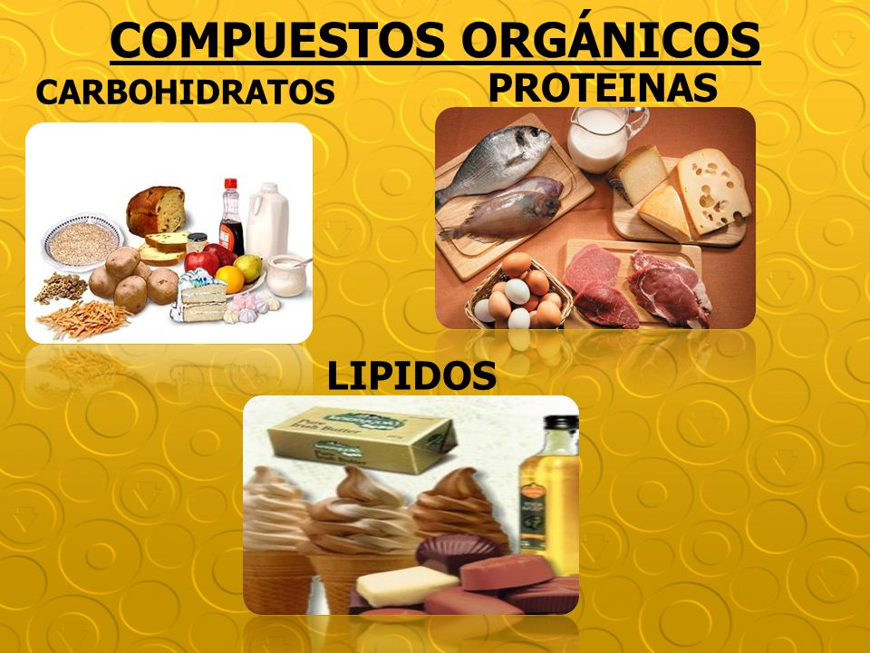 COMPUESTOS ORGÁNICOS CARBOHIDRATOS PROTEINAS LIPIDOS