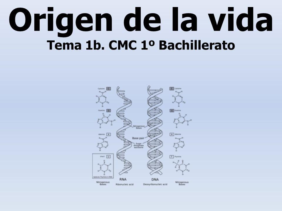 Origen de la vida Tema 1b. CMC 1º Bachillerato