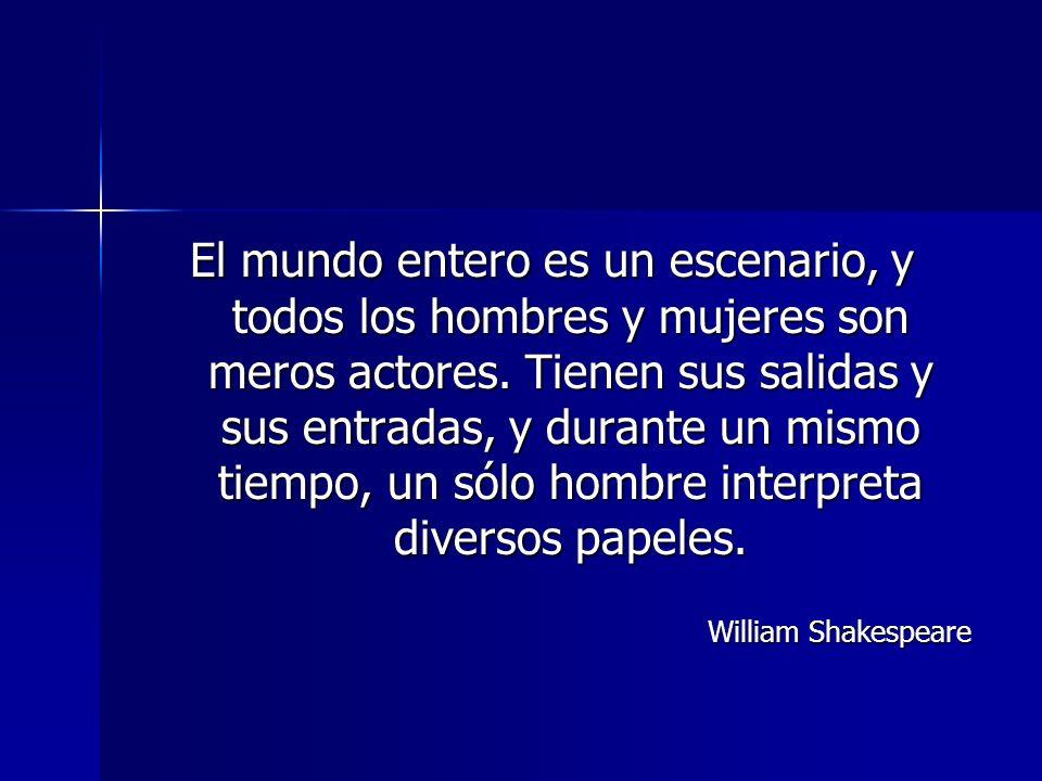 El mundo entero es un escenario, y todos los hombres y mujeres son meros actores.