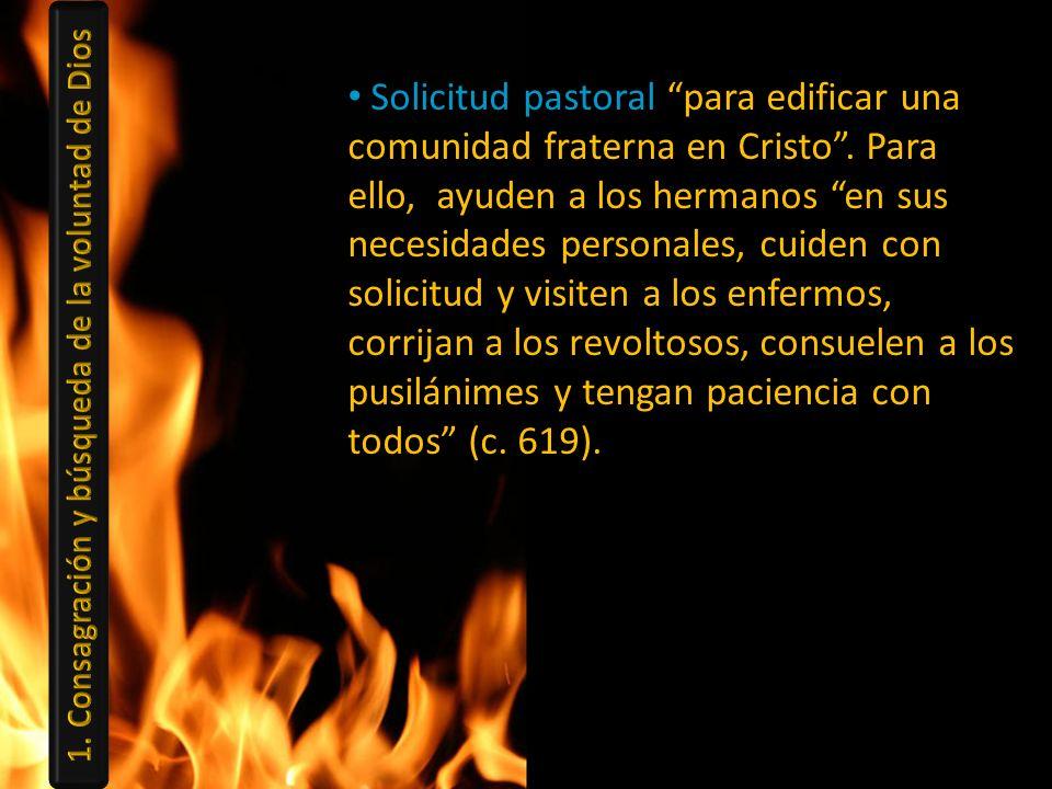 Solicitud pastoral para edificar una comunidad fraterna en Cristo. Para ello, ayuden a los hermanos en sus necesidades personales, cuiden con solicitu
