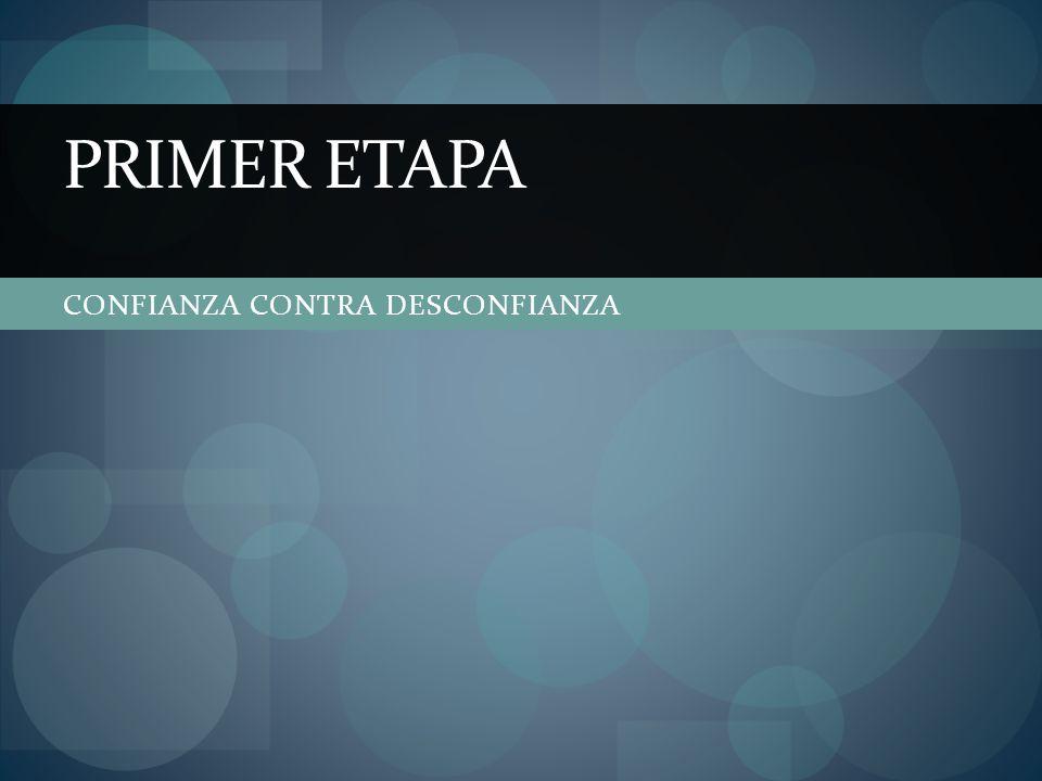 CONFIANZA CONTRA DESCONFIANZA PRIMER ETAPA