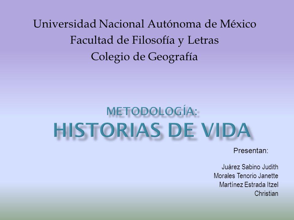Universidad Nacional Autónoma de México Facultad de Filosofía y Letras Colegio de Geografía Juárez Sabino Judith Morales Tenorio Janette Martínez Estrada Itzel Christian Presentan: