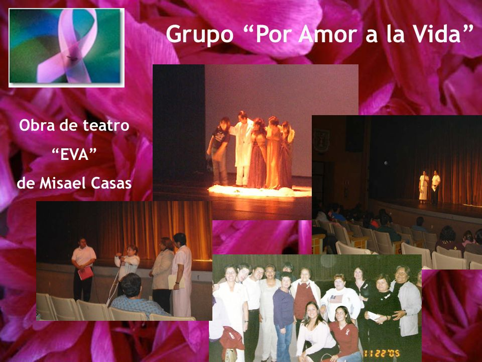 Obra de teatro EVA de Misael Casas Grupo Por Amor a la Vida