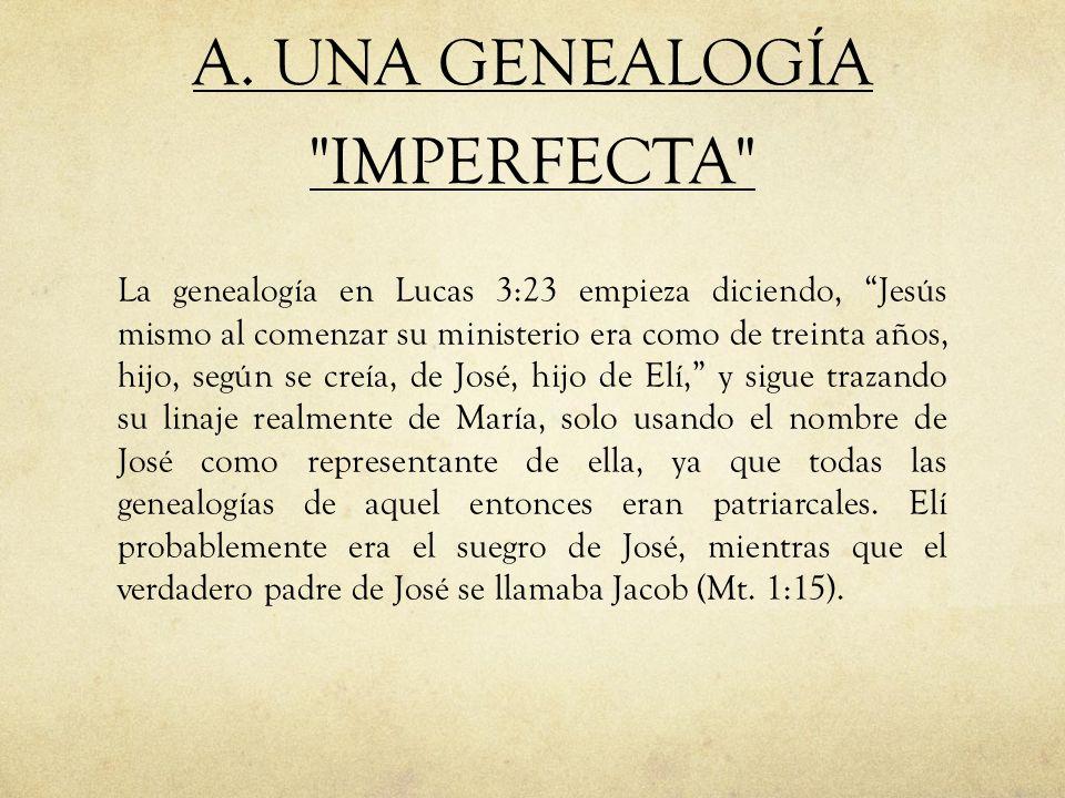A. UNA GENEALOGÍA