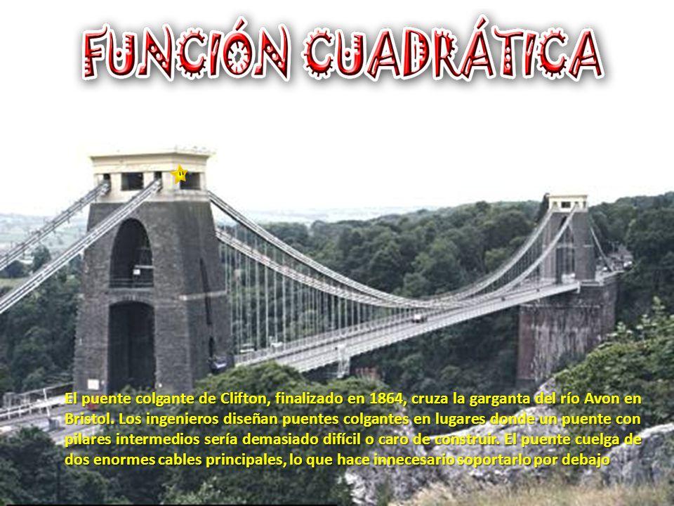 El puente colgante de Clifton, finalizado en 1864, cruza la garganta del río Avon en Bristol.
