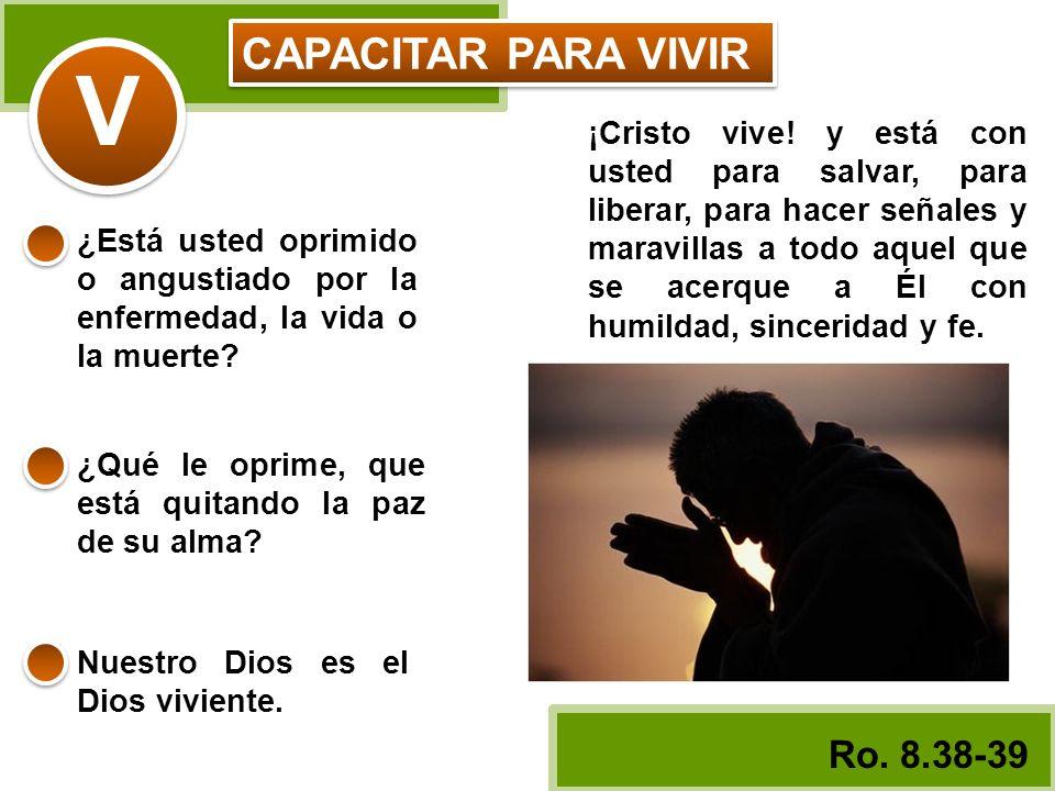 CAPACITAR PARA VIVIR V ¡Cristo vive! y está con usted para salvar, para liberar, para hacer señales y maravillas a todo aquel que se acerque a Él con