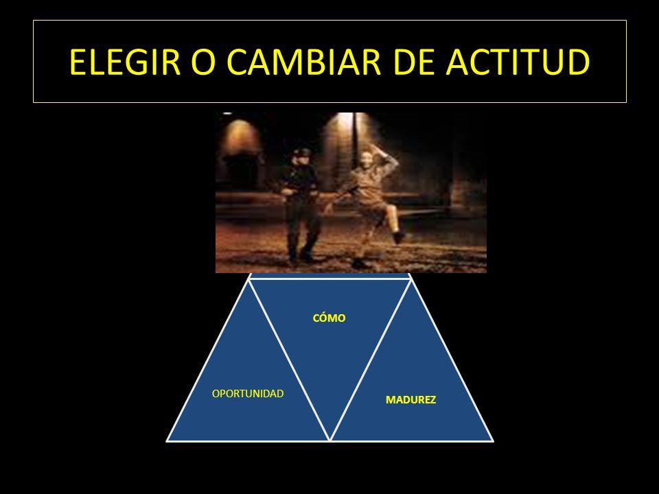 ELEGIR O CAMBIAR DE ACTITUD OPORTUNIDAD CÓMO MADUREZ