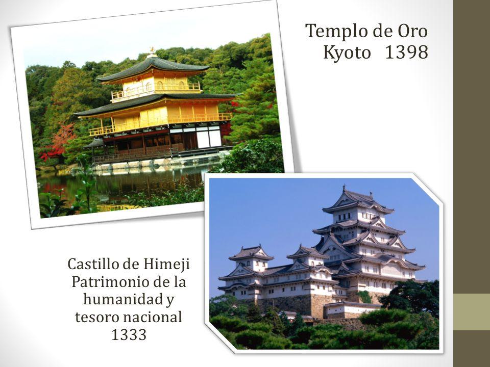Templo de Oro Kyoto 1398 Castillo de Himeji Patrimonio de la humanidad y tesoro nacional 1333