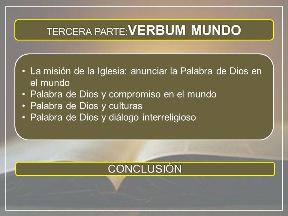 Hay que reconocer que en los últimos decenios ha aumentado en la vida eclesial la sensibilidad sobre este tema, de modo especial con relación a la Revelación cristiana, a la Tradición viva y a la Sagrada Escritura.