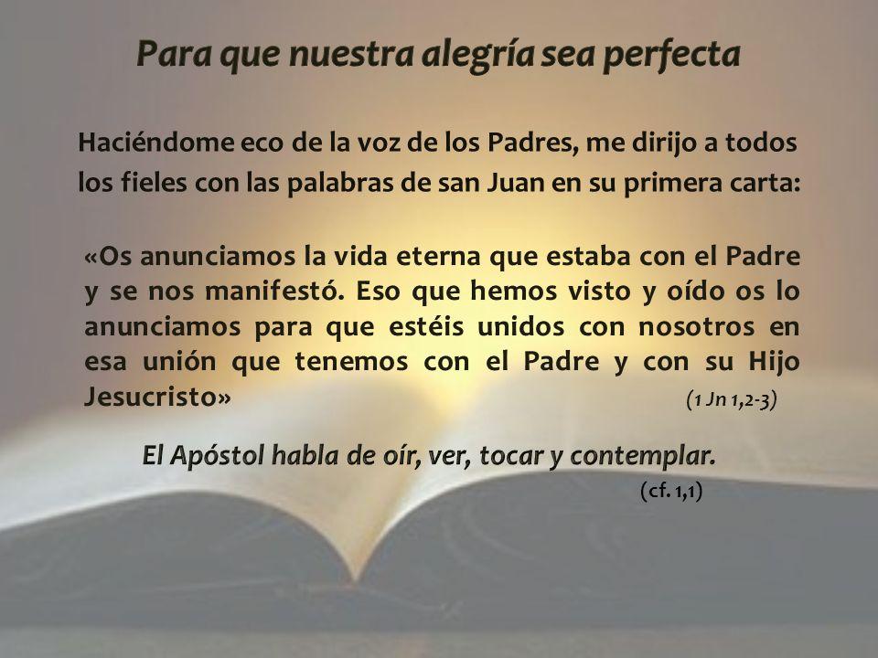 Todo esto nos ha ayudado a entender que únicamente en el «nosotros» de la Iglesia, en la escucha y acogida recíproca, podemos profundizar nuestra relación con la Palabra de Dios.
