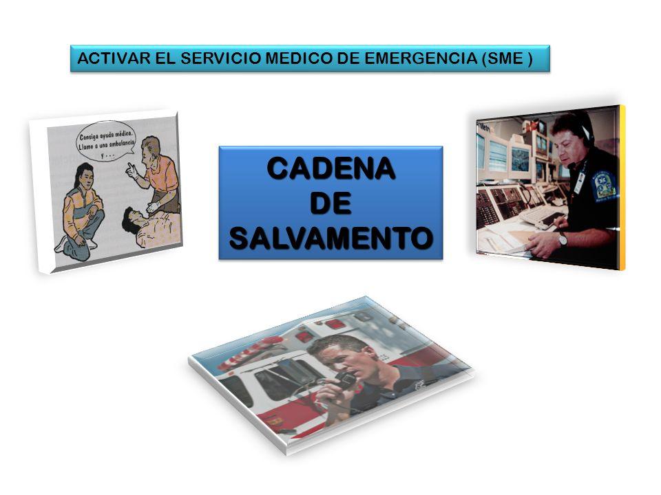 ACTIVAR EL SERVICIO MEDICO DE EMERGENCIA (SME ) CADENA DE SALVAMENTO CADENA