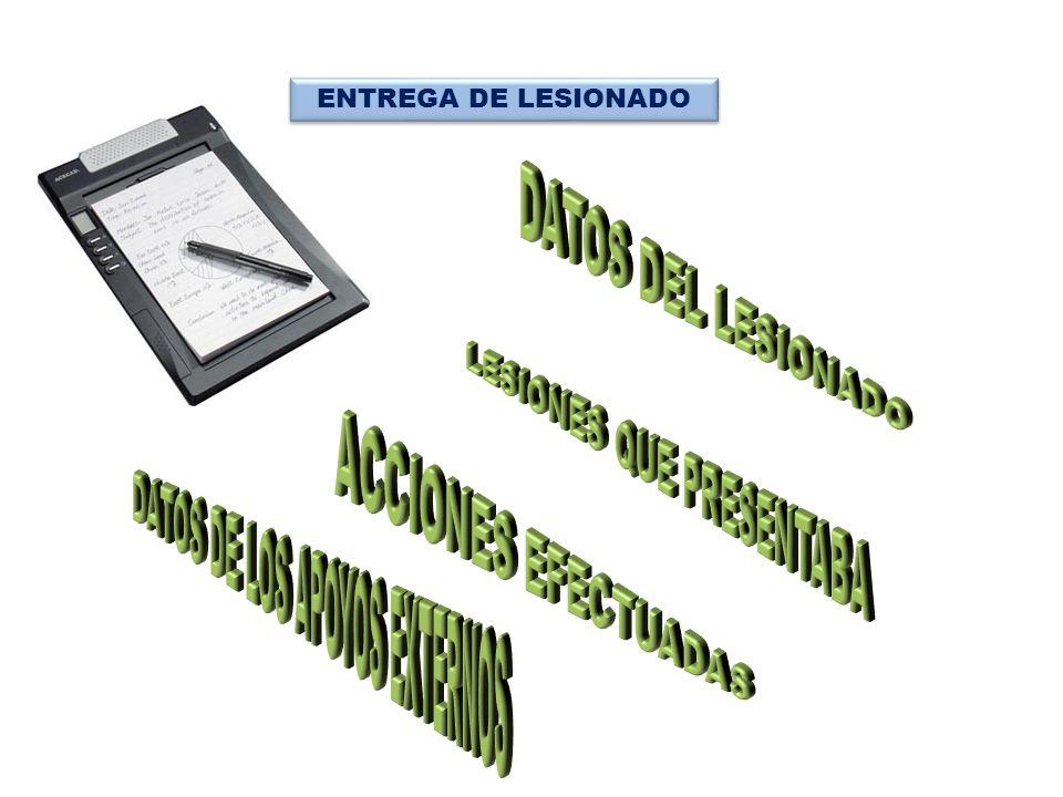 ENTREGA DE LESIONADO