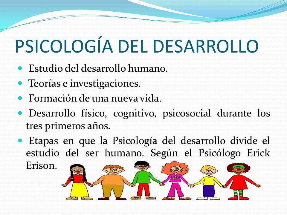 PSICOLOGÍA DEL DESARROLLO HUMANO CONCEPTO Estudio científico de los procesos de cambio y estabilidad a lo largo del ciclo vital humano.