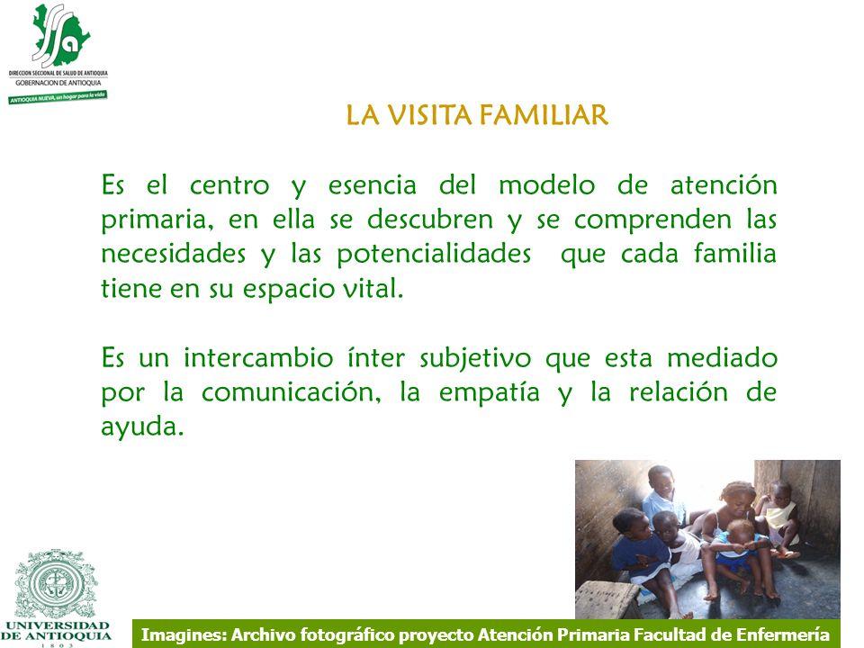 LA VISITA FAMILIAR Es el centro y esencia del modelo de atención primaria, en ella se descubren y se comprenden las necesidades y las potencialidades