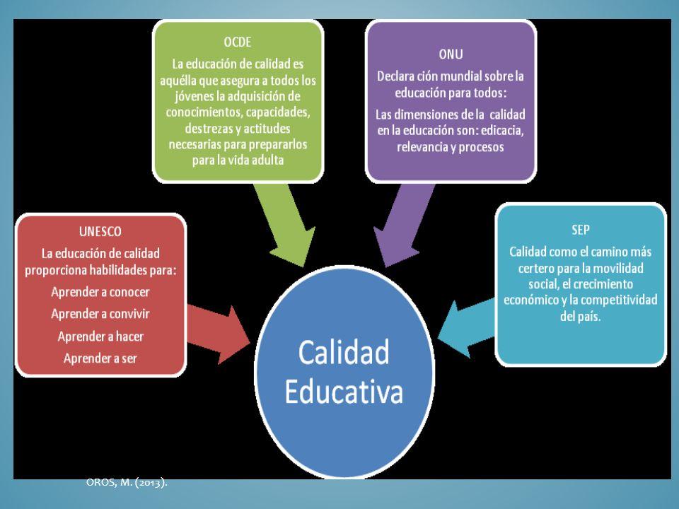 LA REFORMA EDUCATIVA Está sustentada en tres grandes documentos: Plan Nacional de Desarrollo 2007 – 2012 Plan Sectorial de Educación 2007 – 2012 Alianza por la Calidad Educativa OROS, M.