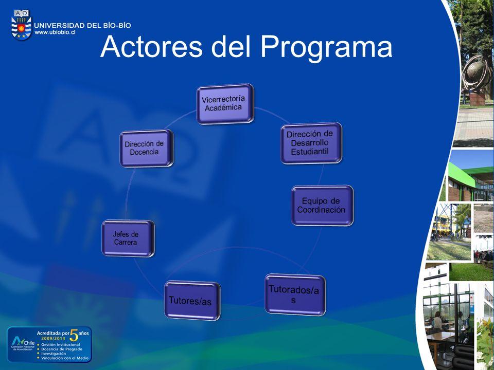 Actores del Programa