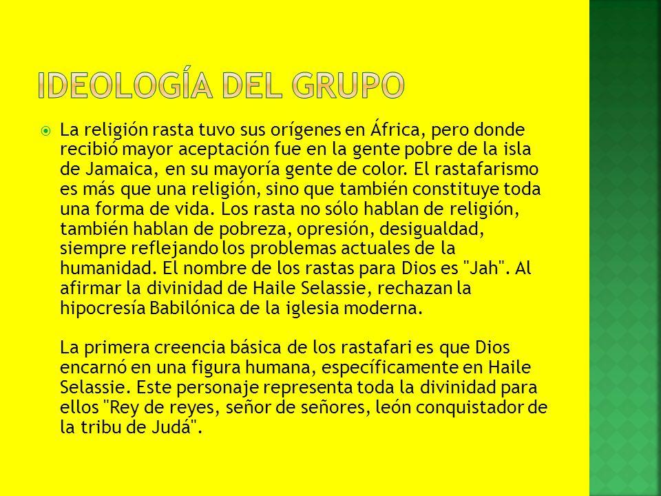 La religión rasta tuvo sus orígenes en África, pero donde recibió mayor aceptación fue en la gente pobre de la isla de Jamaica, en su mayoría gente de