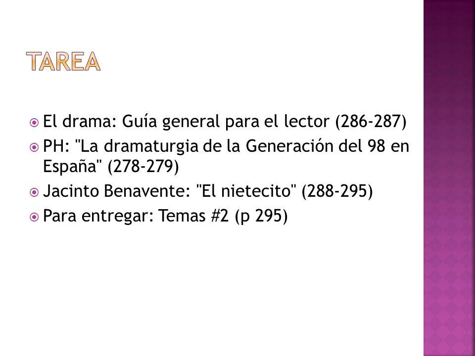 El drama: Guía general para el lector (286-287) PH: