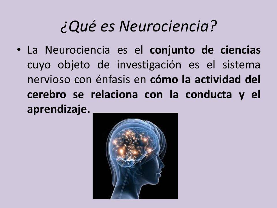 Implica ciencias tales como: la neuroanatomía, la fisiología, la biología molecular, la química, la neuroinmunología, la genética, las imágenes neuronales, la neuropsicología.