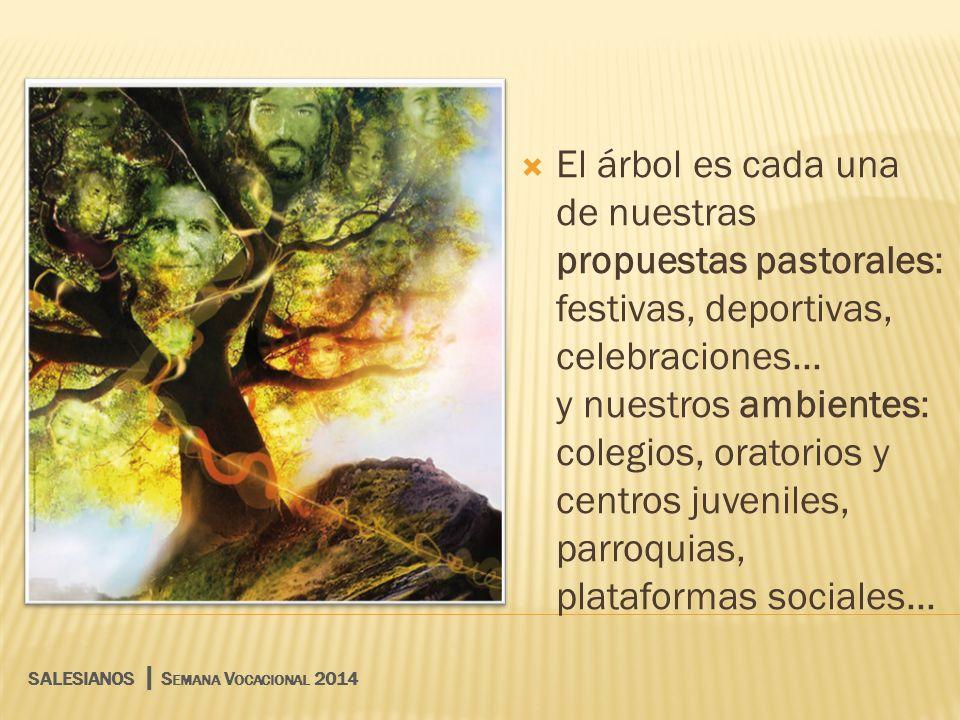 El árbol es cada una de nuestras propuestas pastorales: festivas, deportivas, celebraciones...