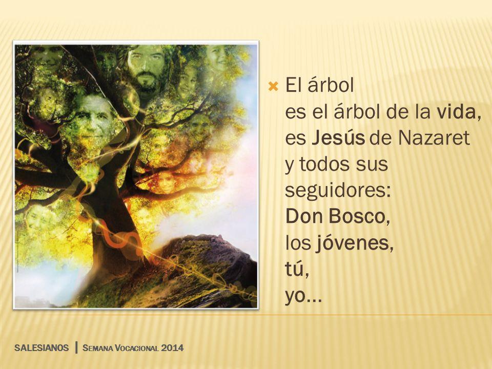 El árbol es el árbol de la vida, es Jesús de Nazaret y todos sus seguidores: Don Bosco, los jóvenes, tú, yo...