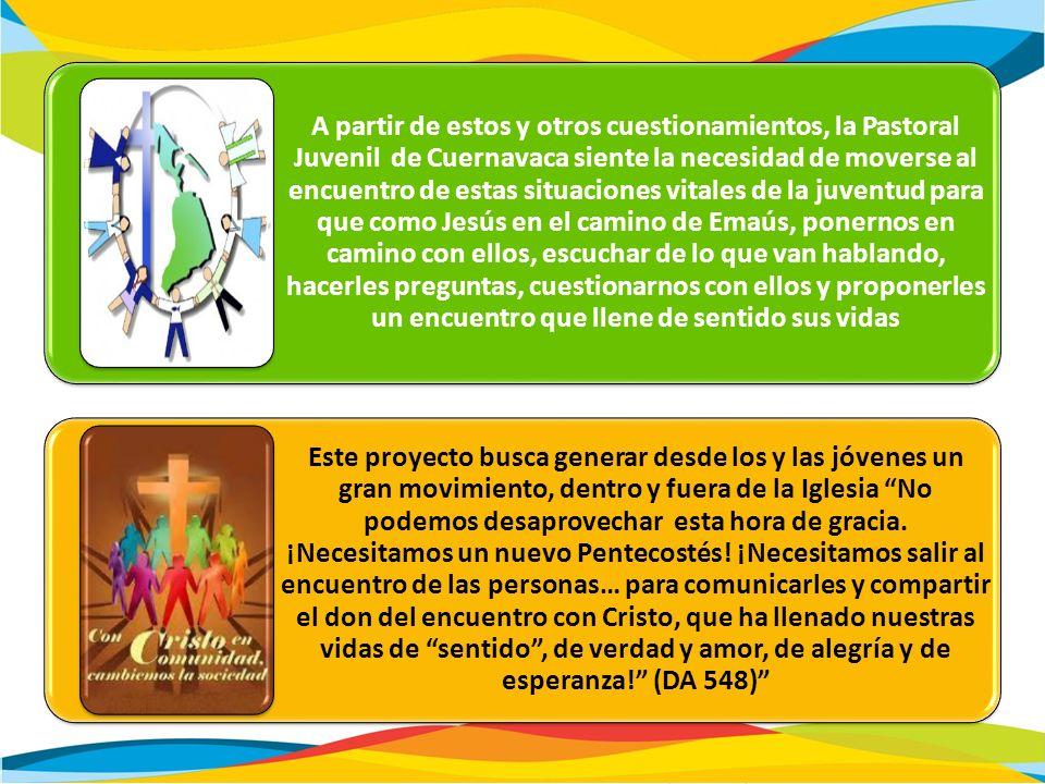 A partir de estos y otros cuestionamientos, la Pastoral Juvenil de Cuernavaca siente la necesidad de moverse al encuentro de estas situaciones vitales