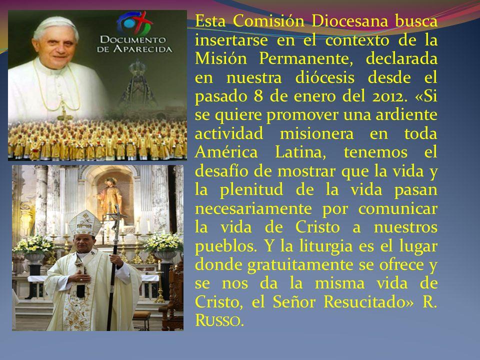Esta Comisión Diocesana busca insertarse en el contexto de la Misión Permanente, declarada en nuestra diócesis desde el pasado 8 de enero del 2012.