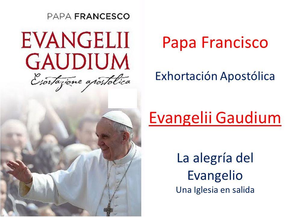 Papa Francisco Exhortación Apostólica Evangelii Gaudium La alegría del Evangelio Una Iglesia en salida