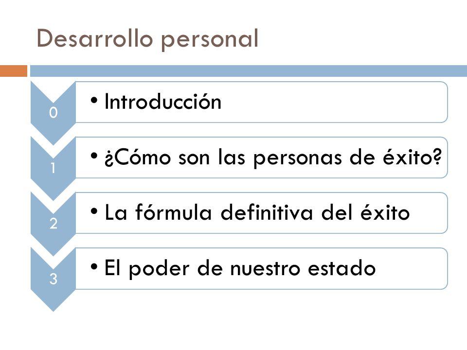 Desarrollo personal 0 Introducción 1 ¿Cómo son las personas de éxito.