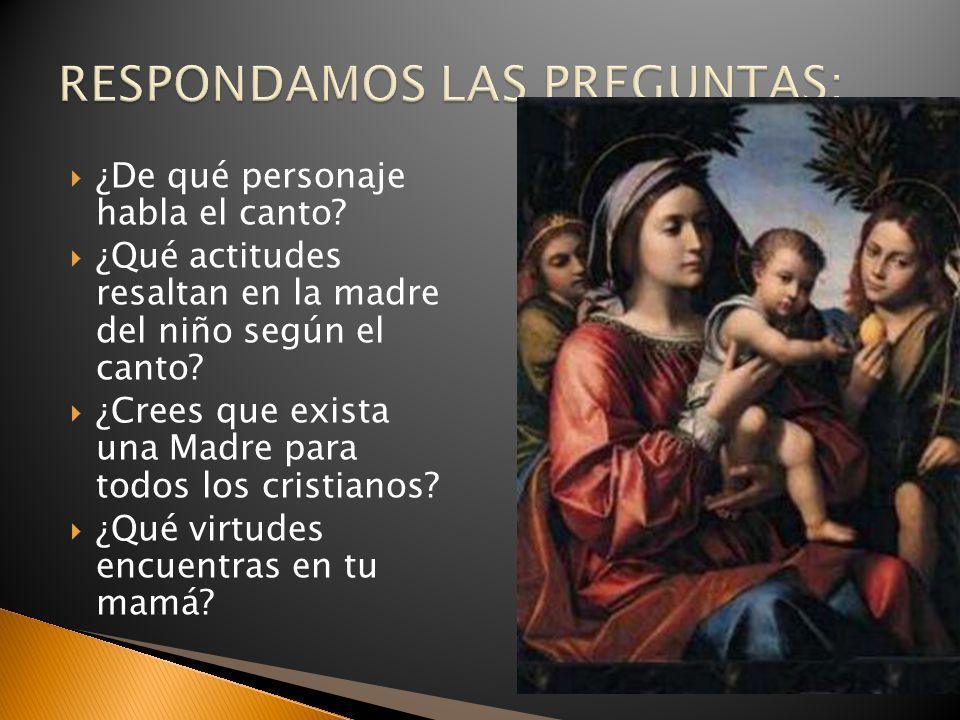 Mujer de fe (Lucas 1, 26– 37; 46-55) Obediente (Lucas 1, 38) Servidora.
