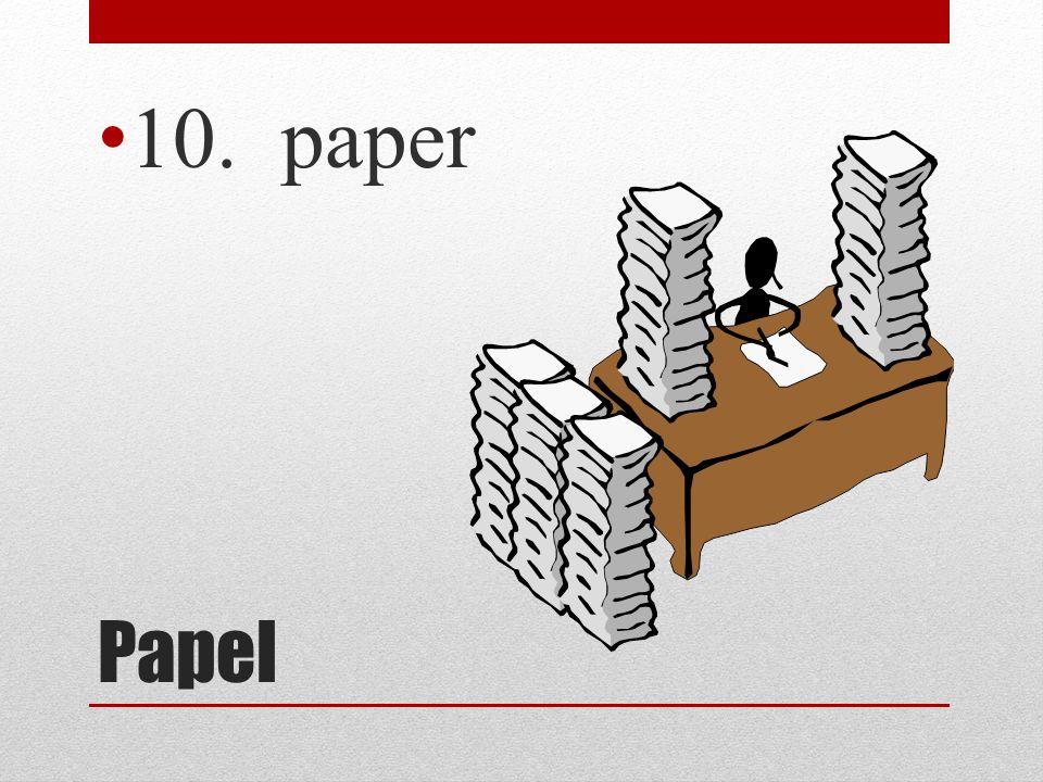 Papel 10. paper