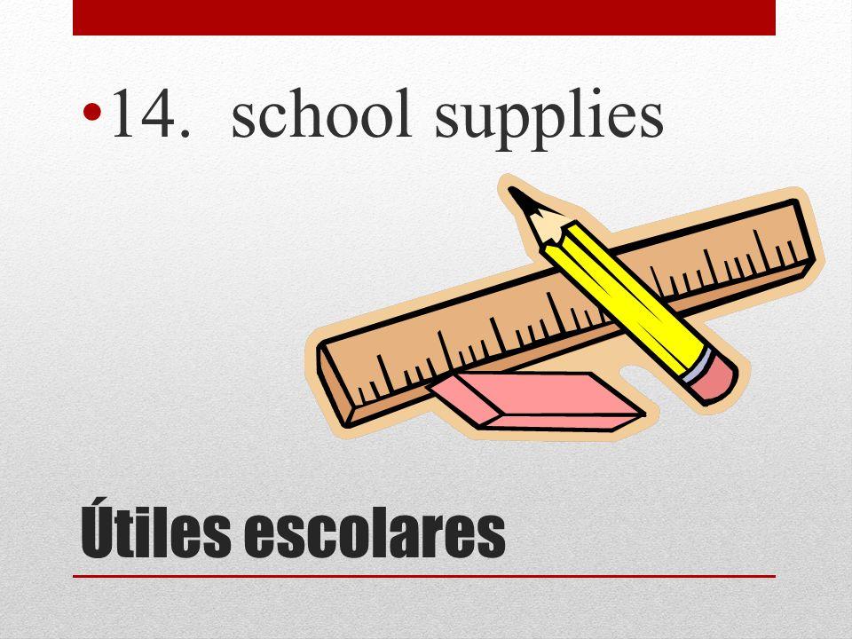 Útiles escolares 14. school supplies